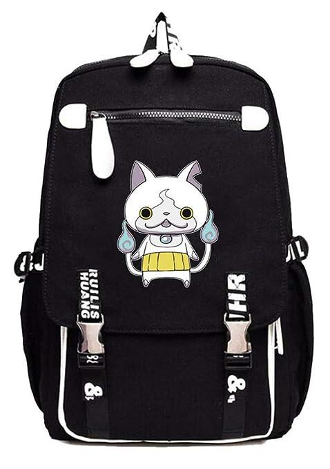 Cosstars YO-Kai Watch PuniPuni Juego Mochila Escolar Estudiantes Mochila para Portátil Backpack Bolsa Casual