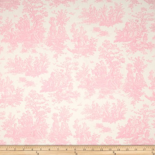 Pink Toile Curtains - Premier Prints Jamestown Toile Baby Pink