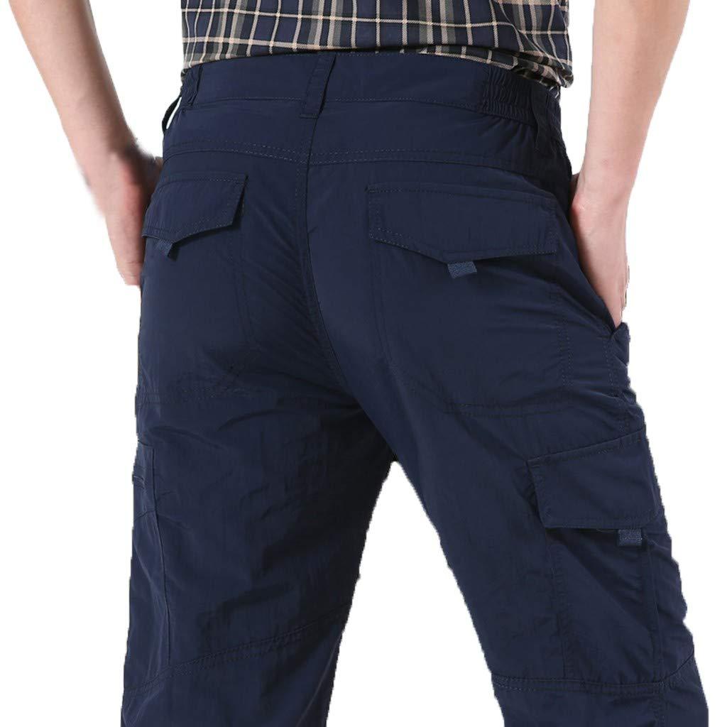 Sunyastor Men's Casual Cargo Pants Multi-Pocket Sports Fitness Camo Work Pants Military Athletic-Fit Trousers by Summer by Sunyastor men pants (Image #2)