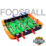 Portable Mini Table Football Tabletop Foosball Table Soccer Game Table Indoor & Outdoor Soccer Game for Adults and Kids by Hey! Play! Kids Gifts Toys