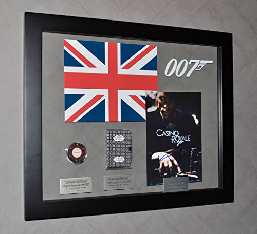 Screen Used CASINO ROYALE Daniel Craig Signed JAMES BOND 007 PROP Chip & Card, UACC, COA, Blu Ray DVD Signed Casino