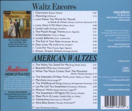 Waltz Encores American Waltzes by Mantovani