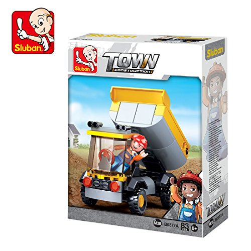 Sluban Small Dumper Truck 87Pcs Building Block Toys Multi Color Lego Compatible Educational Gift Toy Set for Kids M38 B0377 A