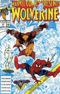 Marvel Comics Presents Issue 50 (1990) Wolverine, Captain Ultra, Silver Surfer & Comet Man