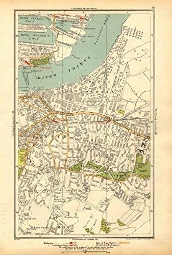 London North Map.Amazon Com London North Woolwich Plumstead Gallions Manor Way