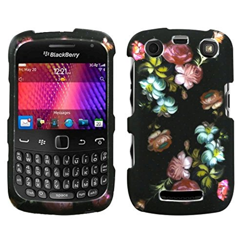 Mybat Protector Cover for Blackberry 9360 - Retail Packaging - Lizzo Blooming Flowers