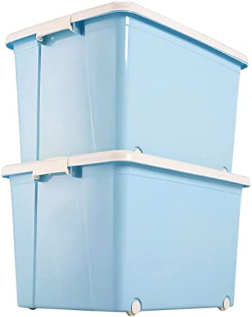 HX Cajas almacenaje Ropa Caja de Almacenamiento de Gran Caja de almacenaje de la Ropa Cubiertos de plástico Caja de Almacenamiento 50L (50L Azul - 170L) Cajas de plastico almacenaje: Amazon.es: Hogar