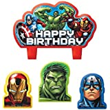 Amscan Bougie anniversaire Avengers (x4)