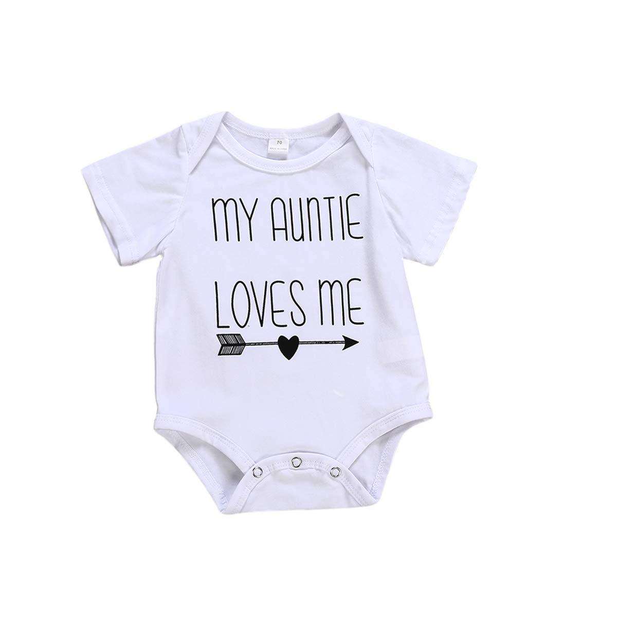 Infant Boy Girl Romper Toddler Baby My Auntie Loves Me Onesies Bodysuit Outfit Bebogo CA18823878