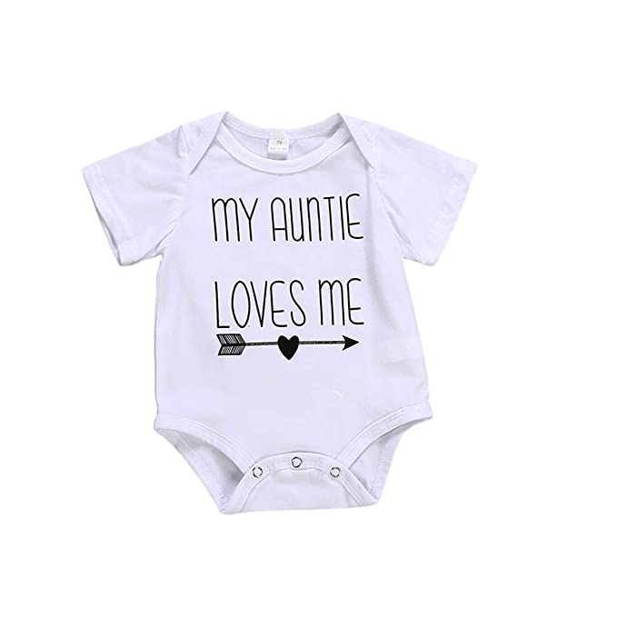 c6254f938 Infant Boy Girl Romper Toddler Baby My Auntie Loves Me Onesies Bodysuit  Outfit: Amazon.ca: Clothing & Accessories