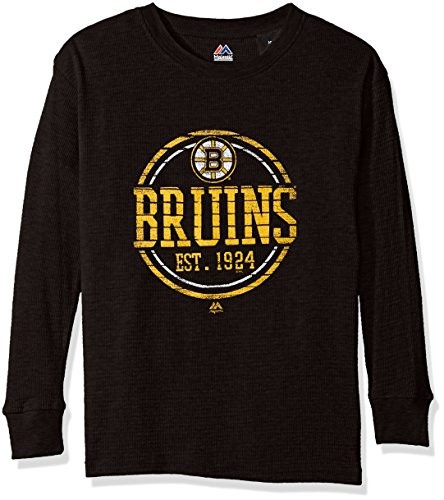 Profile Big & Tall NHL Boston Bruins Youth Thermal Tee, Large, Black