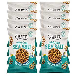 Quinn Snacks Non-Gmo & Gluten Free Pretzels, Classic Sea Salt Twists, 7 Oz, Pack Of 8