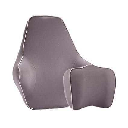 Almohada lumbar coche Travel Ease Soporte lumbar para auto Respaldo y reposacabezas Cuello almohada Kit Para
