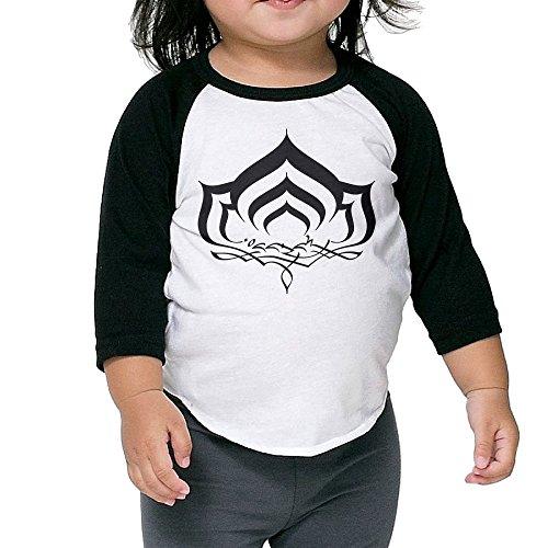 Warframe Evolution Toddler Unisex Raglan Shirt Graphic Baseball Jersey 3/4 Sleeve (Console Evolution)