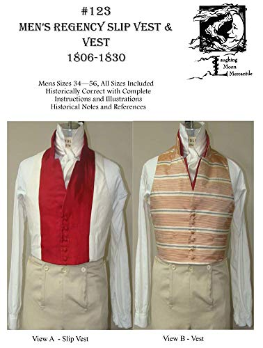 Sewing Pattern - 1806 - 1830 Men's Regency Slip Vest & Vest Pattern