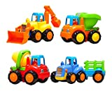 Best Liberty Imports Toddler Trucks - Set of 4 Cartoon Friction Powered Play Vehicles Review