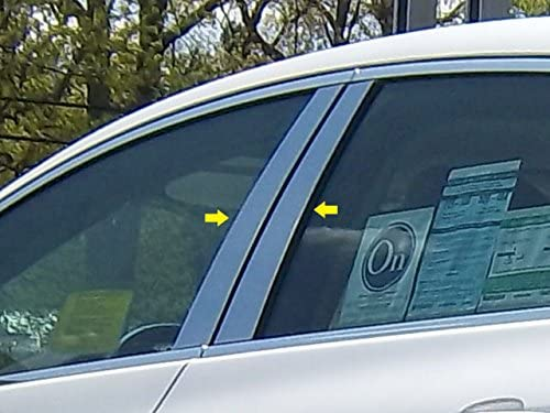 QAA fits 2012-2017 Buick Verano 4 Piece Stainless Pillar Post Trim PP52540