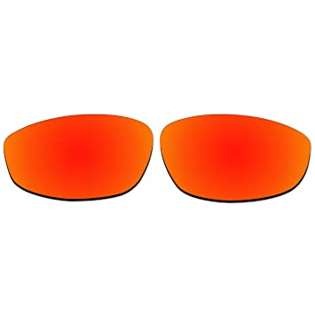 Acompatible de remplacement de lentilles pour lunettes de soleil Oakley Fouet, Fire Red Mirror - Polarized