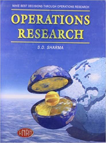 Operations Research Book By Sd Sharma