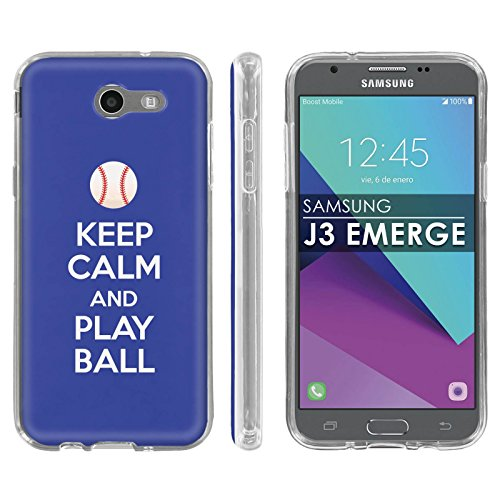 (Samsung Galaxy J3 Emerge [2017] Soft Mold [Mobiflare] [Clear] Thin Gel Protect Cover - [Play Ball - Los Angeles] for Galaxy [2017] [J3 Emerge] [5