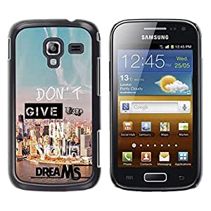 Impact Case Cover with Art Pattern Designs FOR Samsung Galaxy Ace 2 Give Up Dreams Motivational Quote Success Betty shop