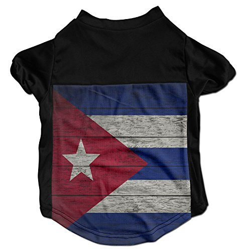 YOIGNG Fashion Sleeveless Retro Cuban Flag Pet Dog Cat Clothes T-shirt Top Vest Pet Supplies