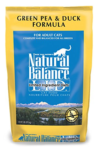 Natural Balance L.I.D. Green Pea and Duck Formula Grain Free Dry Cat Food 2 lbs