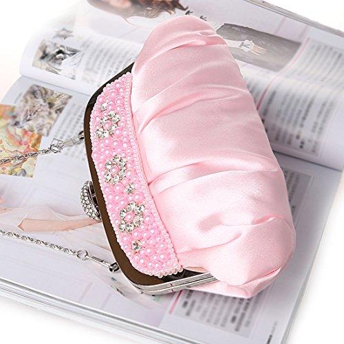 YYW Evening Bag - Cartera de mano para mujer Rosa