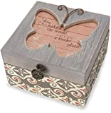 Pavilion Gift Company 41102 Simple Spirits - Patterned Butterfly Someone Special Jewelry Box,