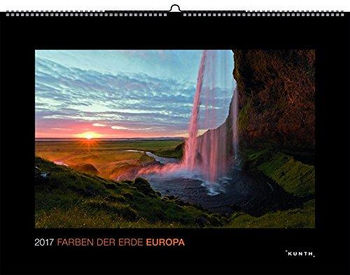 2017 Farben der Erde: Europa: Schwarz, Großformat (KUNTH Wandkalender Black Edition)