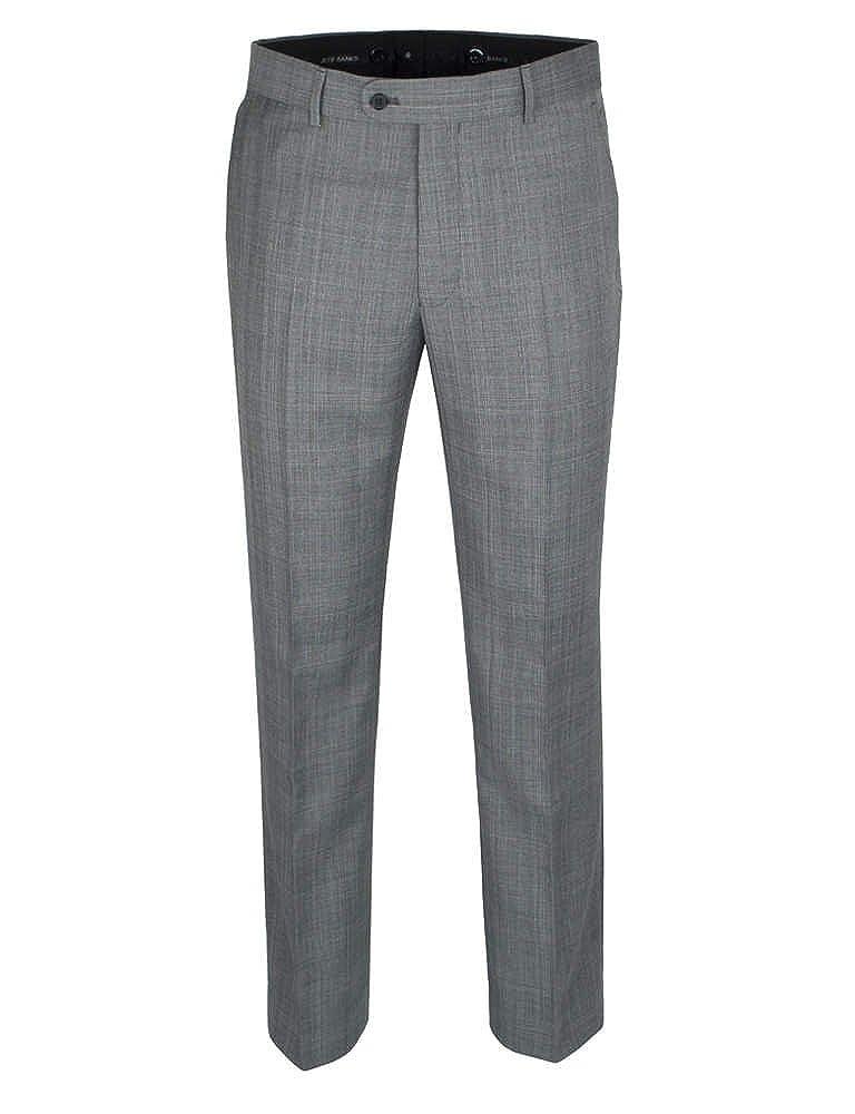 Jeff Banks Grey Check Black Suit Trouser