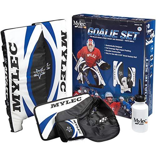 Goalie Street (Mylec Goalie Set, Blue/White/Black, 21-Inch)