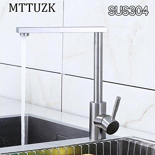 Retro Deluxe Faucetinging High-Quality 304 Stainless Steel Brushed Kitchen Faucet 360 Degree redary Table wash Basin Faucet, hot and Cold Water Mixer tap