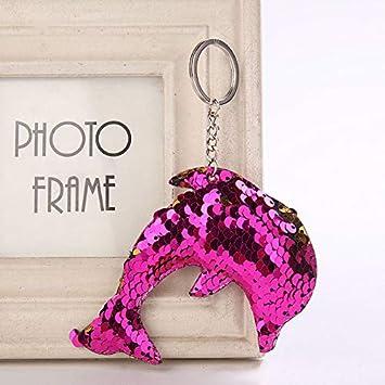 Women New Handbag Pendant Mermaid Sequins Keychain Bag Accessories Star Keyring