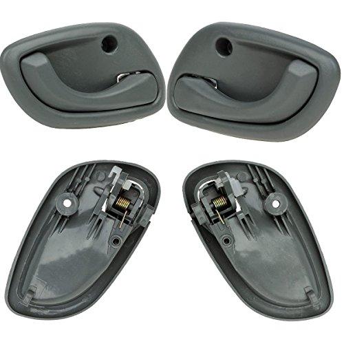 AUTEX 4pcs Interior Front Rear Left Right Door Handles compatible with 1999 2000 01 02 03 04 05 Chevy Tracker Suzuki Vitara Grand Vitara 95 96 97 98 99 00 01 02 Suzuki Esteem Door Handles 80479 80478