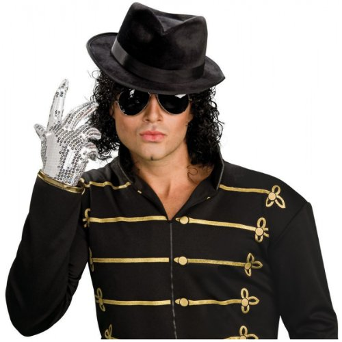 Michael Jackson Costume Makeup (Sequined Michael Jackson Glove Costume Accessory)