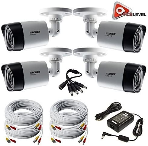 Lorex HD 1080p Weatherproof Night Vision Security Camera – 4 Pack