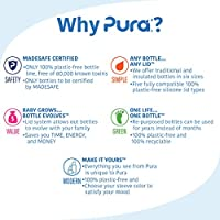 Clear Pura Silicone Straw 1//Pack Plastic Free, NonToxic Certified, BPA Free