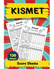 """Kismet Score Sheets: 130 Large Score Sheet Pages For Scorekeeping. Gift Idea For Your Friends. Kismet Score Record Notebook. Kismet Score Card. Kismet Writing Note. Perfect Kismet Scorebook for Your Fantastic Game. Kismet Score Pads For Game. Size 6""""x9"""""""
