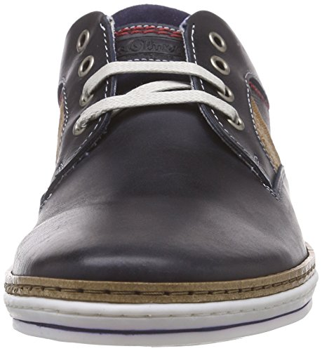 s.Oliver 13201 - Zapatos de cordones derby Hombre Azul - Blau (NAVY/COGNAC 831)