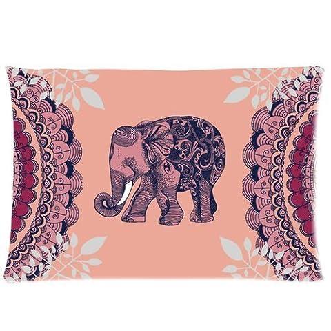 Hengli Bohemian Elephant Custom Zippered Pillowcase Standard Size 20