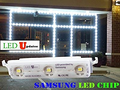 LEDUPDATES STOREFRONT WINDOW LED LIGHT Super Bright SAMSUNG LED CHIP 25FT MADE IN KOREA WHITE + UL 12v POWER SUPPLY