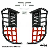 Yamaha Banshee YFZ 350 (1987-2006) Propeg Nerf Bars Black with Red Net (More Net Color Choices Available)