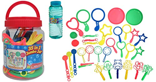 35 in 1 Bubble Play Set, Value Pack, with Wands, 8 oz., Rainbow Bubbles ()