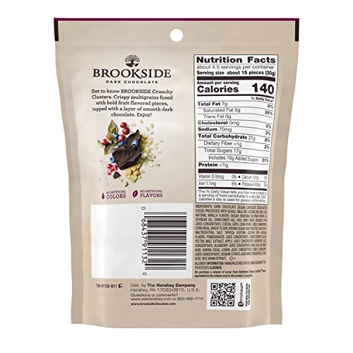 BROOKSIDE Dark Chocolate Crunchy Clusters, Berry Medley, 5 Ounce (Pack of 12) by Brookside (Image #1)