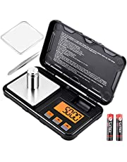 Supkitdin Digital Scale, Pocket Scale 200g /0.01g Gram Scale, Multifunctional Accuracy Scale LCD Display with 50g Calibration Weight, 6 Units + Tare & Auto Off Function (2AAA Battery Included)