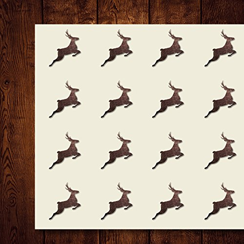 Reindeer Antler Jump Deer Christmas Craft Stickers, 44 Stickers at 1.5 inches, Great Shapes for Scrapbook, Party, Seals, DIY Projects, Item 649112]()
