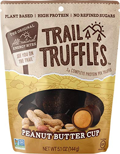 Trail Truffles – Plant Based, Paleo Friendly Superfood Protein Balls – Healthy, Gluten Free, Dairy Free, Soy Free, Non-GMO Snacks for Camping and Hiking (Peanut Butter Cup)