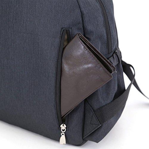 LCY multifunción Smart Mochila cambiador de bebé bolsa mochila con correas para el carrito Colorful Stars negro
