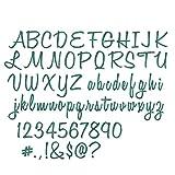 """Sizzix B07149K2YL Alphanumeric, Script (1"""" Tall) by Tim Holtz"""